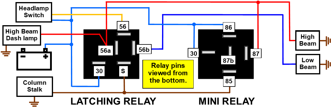 hight resolution of to help you understand the idea here s a simplified diagram showing the functions of the two replacement relays involved