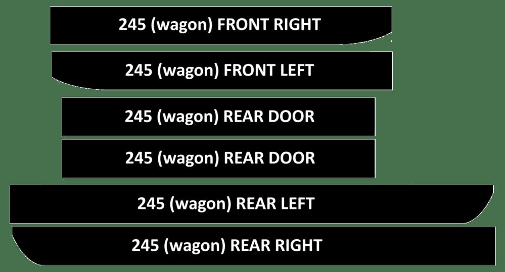 medium resolution of 240 new door vinyl kits