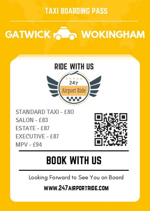 gatwick to wokingham price