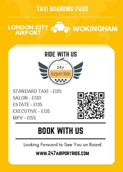 london city airport to wokingham price