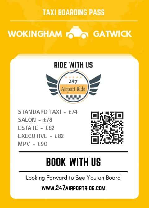 wokingham to gatwick price