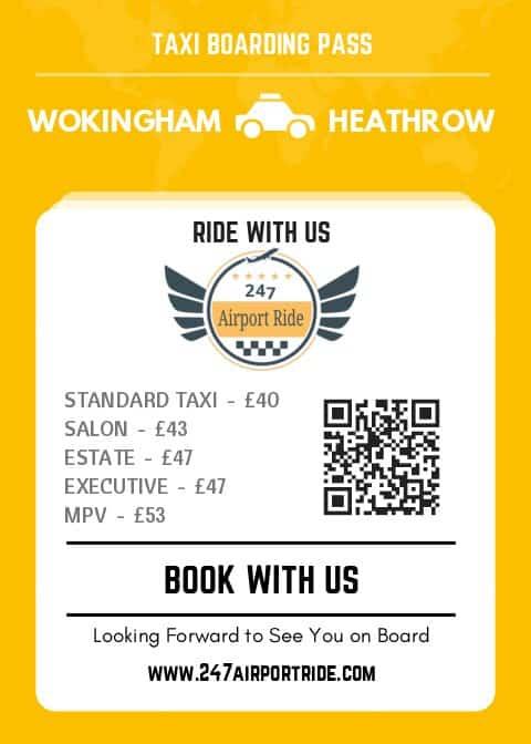 wokingham to heathrow price