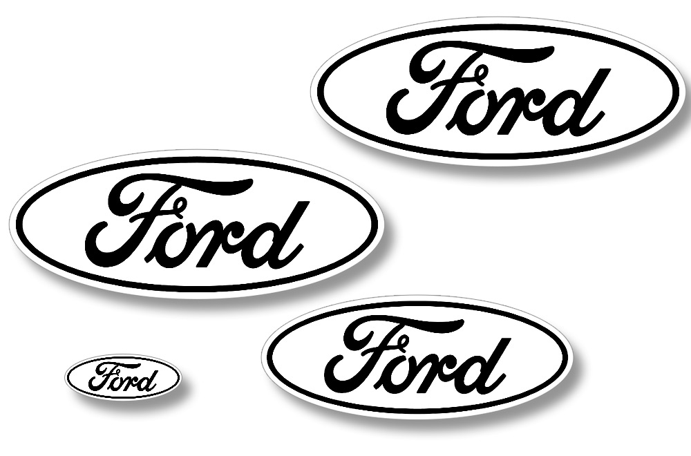 Ford F-150 Vinyl Emblem Graphics for Front and Back of Vehicle
