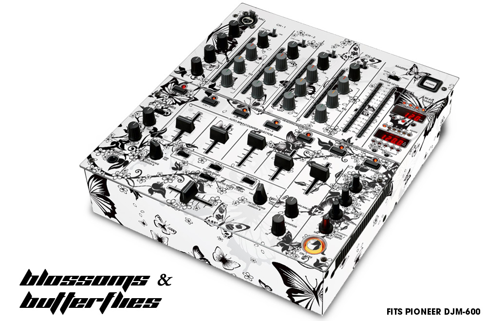 Pioneer DJM 600 Mixer graphic wrap skin