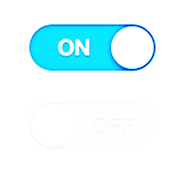 A toggle button with higher contrast