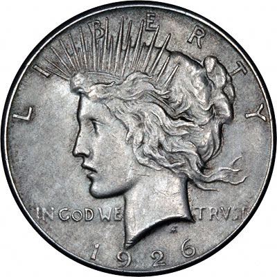 1926 American Silver Dollars  Peace Type