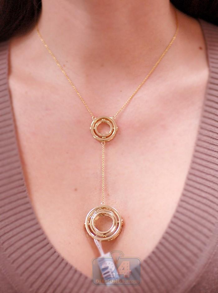 14K Yellow Gold 058 Ct Diamond Womens Chain Necklace