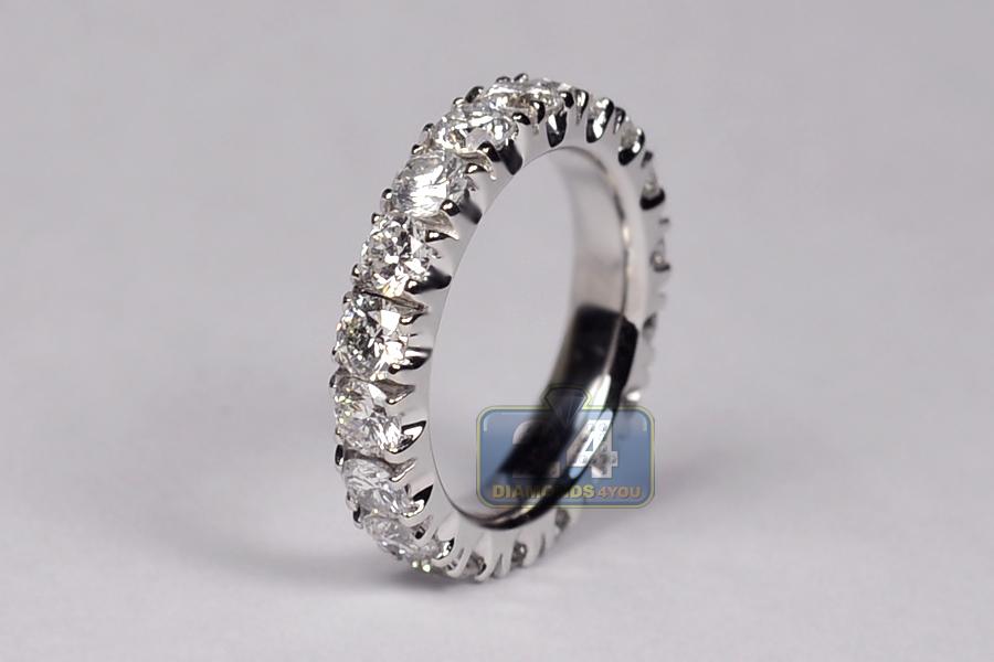 Womens Diamond Eternity Band Anniversary Ring Platinum 310 ct