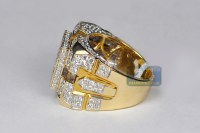 Mens Diamond Rings Yellow Gold