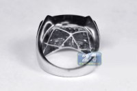 14K White Gold 1.15 ct Diamond Mens Pinky Ring