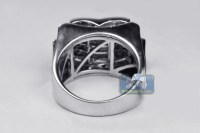 Mens Princess Diamond Pinky Ring 14K White Gold 1.77 ct