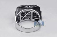 Mens Princess Diamond Pinky Ring 14K White Gold 1.77 ct