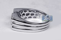 Mens Diamond Pinky Ring 14K White Gold 0.29 ct