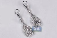 White Gold Diamond Drop Earrings Diamond Drop Earrings ...