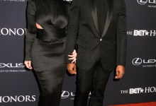 Photo of Kim Kardashian And Kanye West Rock Matching Outfits To The 2015 BET Honors