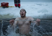 Photo of Icy Faces: Eastern Orthodox Christians Take Chilly Epiphany Plunge