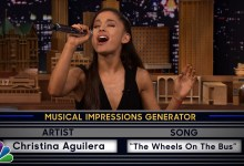 Photo of Ariana Grande does impressions on The Tonight Show