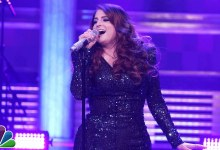 Photo of Meghan Trainor performs & Falls on Stage