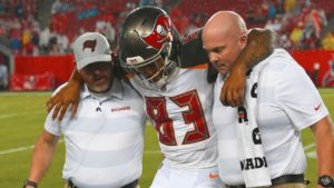 Bucs Lose Key Rookie Receiver Because of Wet Field