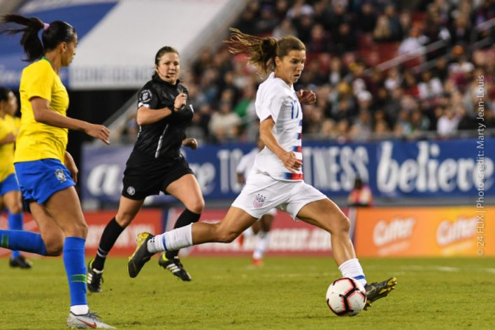 US Women takes down Brazil 1-0, England takes She Believes Cup