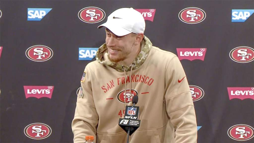 49ers' George Kittle awards Super Bowl trip to widow, son of fallen soldier