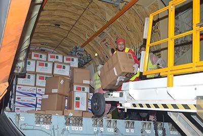 Arrivée à Alger de 41 tonnes d'équipements médicaux en provenance de la Chine