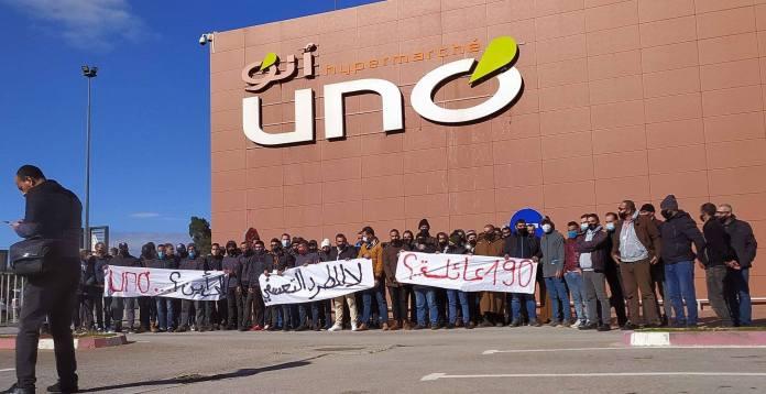 Sit in des employés de UNO Ain Defla