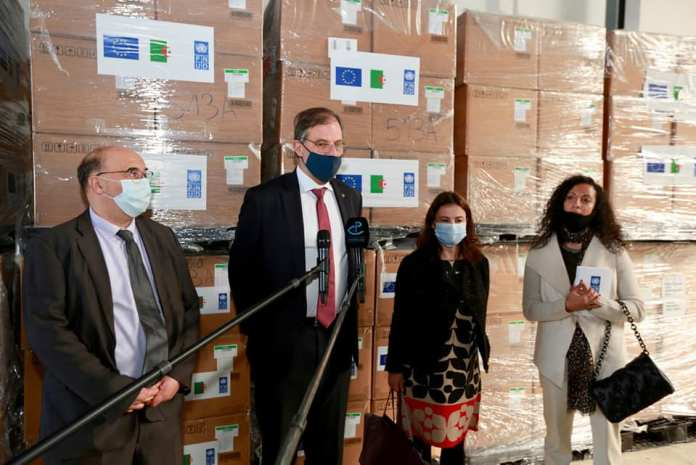 Covid-19: don européen à l'Algérie de 200.000 kits de dépistage