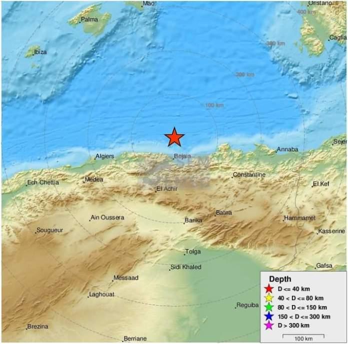 Séisme de magnitude 5.9 à Béjaia, ressenti dans plusieurs wilayas du pays