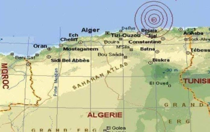 Nouvelle secousse tellurique de 3,2 degrés à Béjaïa