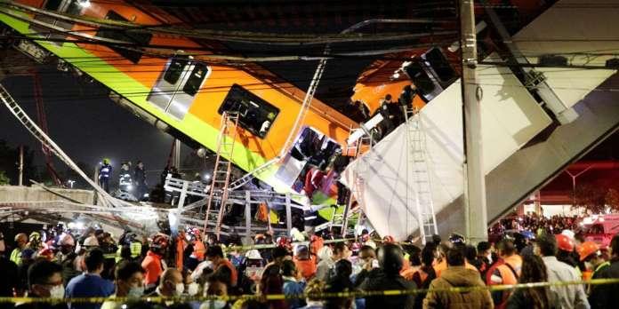 Au moins 20 personnes ont été tuées et des dizaines d'autres blessées à Mexico après l'effondrement d'un pont du métro aérien au passage d'une rame