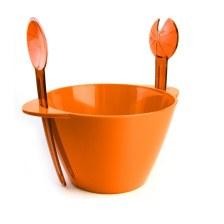 Μπωλ Σερβιρίσματος Σετ 3τμχ Με Κουτάλες Πορτοκαλί - VELTIHOME - 21-16139-orange