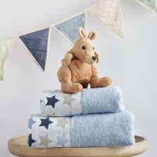 Σετ Πετσέτες Bebe Baby Stars Blue Sb home - Sb home - babystars-towels-blue
