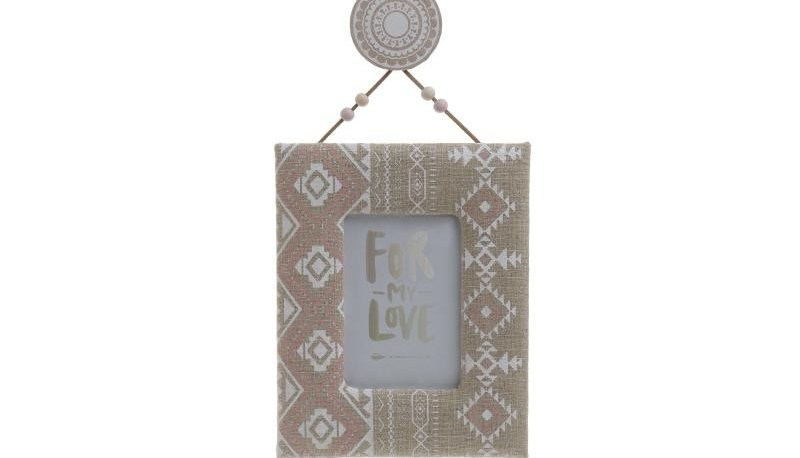 Κορνίζα Ξύλινη-Υφασμάτινη inart 17x2x55εκ. 3-30-887-0049 - inart - 3-30-887-0049