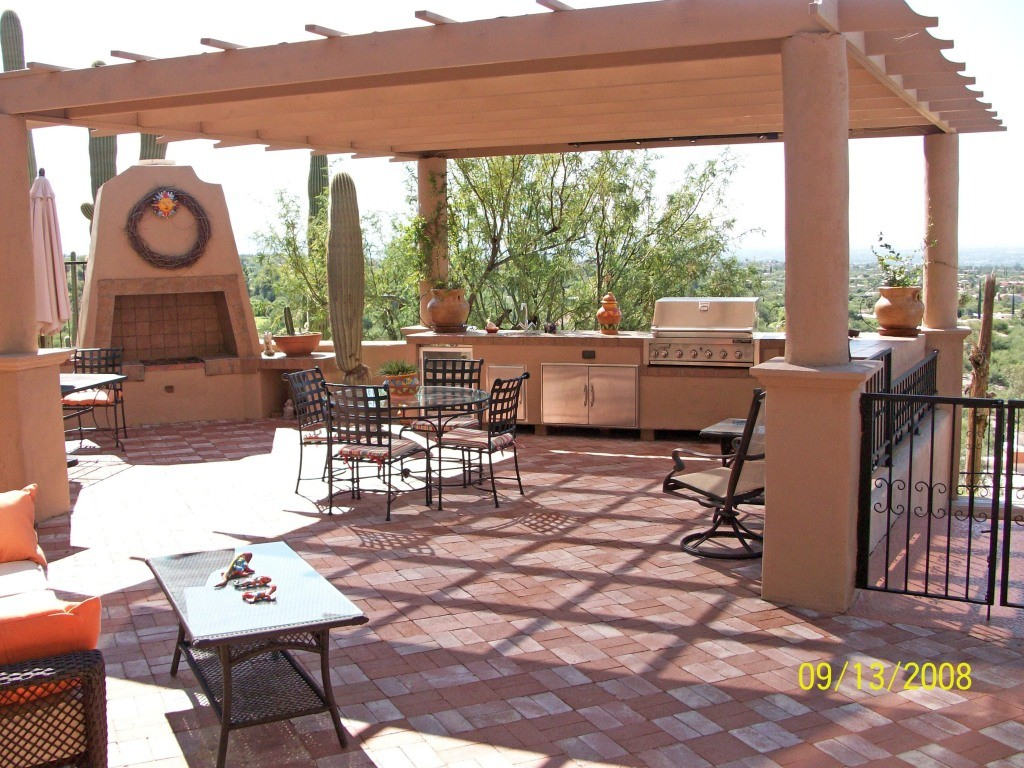 covered outdoor kitchen low cost remodel top 15 designs and their costs with concrete pergola