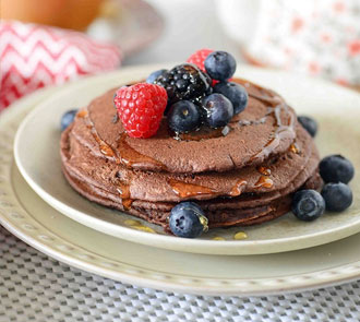 Organic Ragi and Chocolate Pancakes