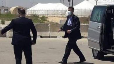 صورة الوفد المصري يغادر قطاع غزة بعد ترتيبات اجراها لمقر القنصلية في القطاع