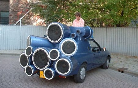 24 oranges  A car with huge speakers to annoy everyone