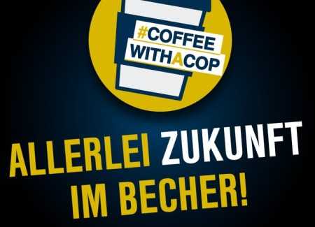 """Coffee with a cop"" - Foto: © Bundespolizeiinspektion Leipzig"