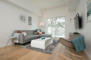 interior shot of living room 209 - 369 stradbrook, stages with furniture