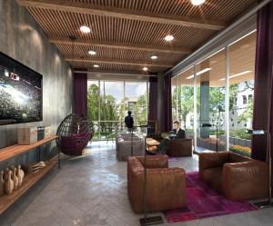 rendering of lobby