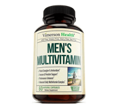 Men's Daily Multimineral/Multivitamin Supplement by Vimerson Health