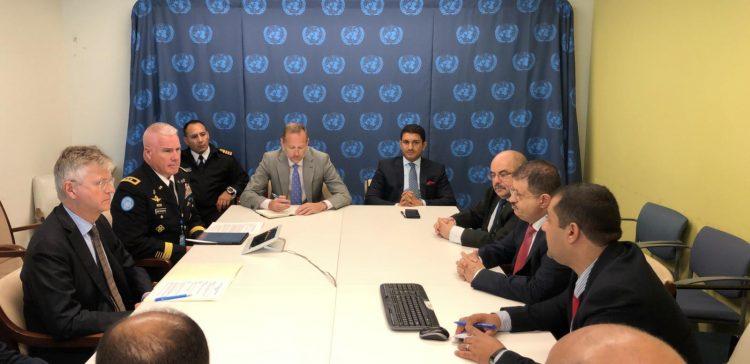 وزير الدفاع يعقد سلسلة لقاءات مع مسؤولين عسكريين بنيويورك