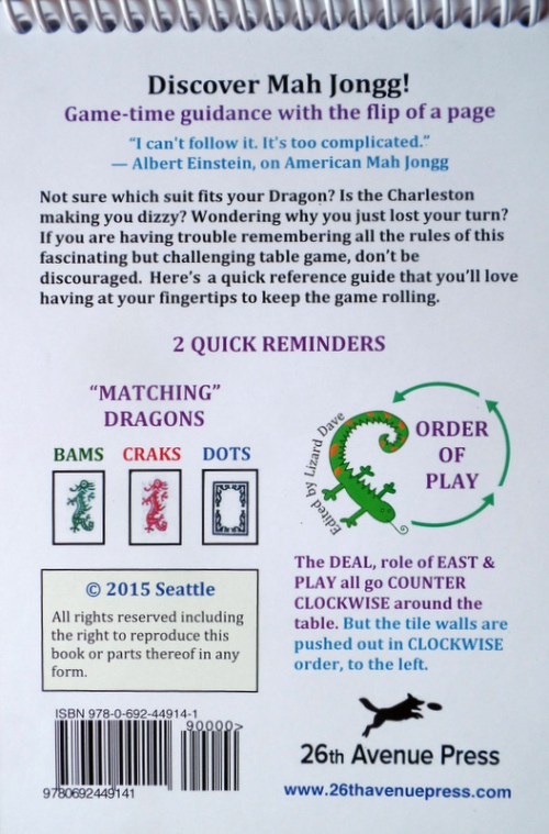 "Back Cover of ""Let's Play Modern American Mah Jongg!"""