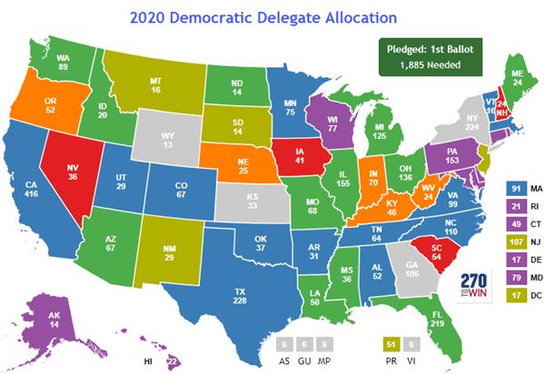 updated democratic primary map