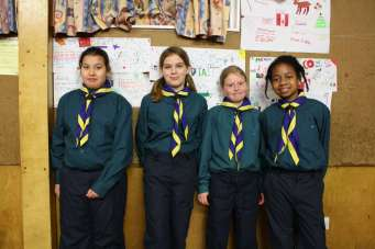 New inductees to Nevis Scout Troop