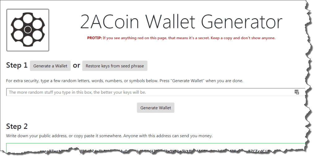 2ACoin Wallet Generator