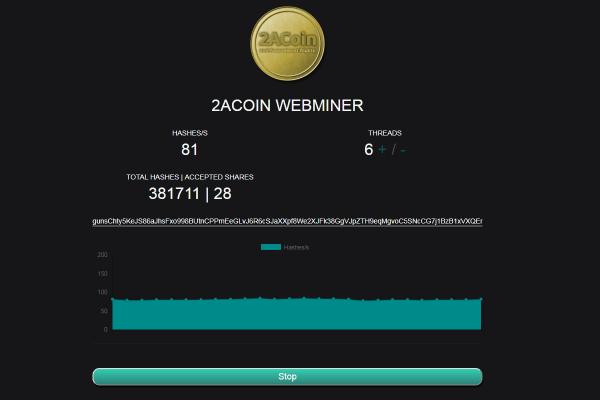 2ACoin Web Miner