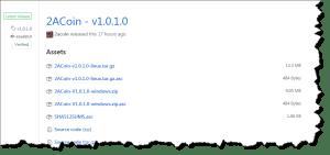 2ACoin v1.0.1.0 Release