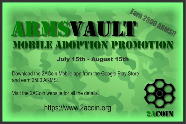 2ACoin ARMSVault Promo